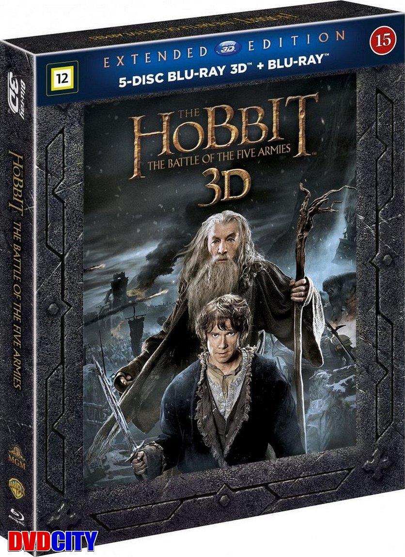 hobbitten femhæreslaget bluray extended
